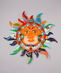 Backyard Oasis Outdoor Accents | Large Sun Wall Art $24.99 & Outdoor Sun Face Wall Art by Regal Art | the sun ? the moon ...