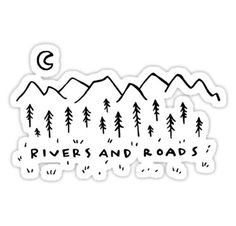 Rivers And Roads Stickers Tumblr Stickers, Cool Stickers, Laptop Stickers, Band Stickers, Canvas Art Prints, Framed Prints, Rivers And Roads, Bullet Journal, Pin And Patches