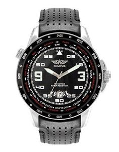 Aviator-AVW7770G84-F-Series-World-Time-Pilot-Black-Strap-amp-Dial-Fathers-Day