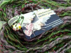 Beaded Handspun Art Yarn 56 yards 4.75 ounces 2 by ladypainswick, $32.00
