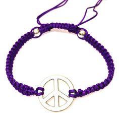 Purple Peace Bracelet-£3 #prettytwisted #bracelet http://prettytwistedonline.co.uk/product/purple-peace-bracelet-2/