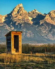 Outhouse With A view--Grand Tetons