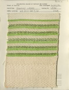 Dorothy Liebes woven swatch. Mid 20th century.