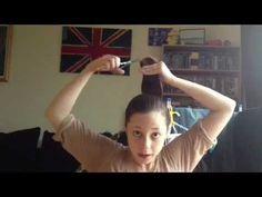 DIY Layered Bob Hair Cut - A tutorial - YouTube - again, with fairly straight hair.