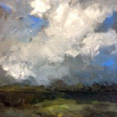 sky with clouds, painting by artist Parastoo Ganjei