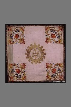 Silk Chalice Veil with metallic thread embroidery - Italian or Sicilian - 18th Century