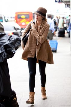 Blake Lively at LAX. What an outerwear!!
