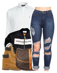 """""""2/14/16"""" by xtaymaxlovesxmisfitx ❤ liked on Polyvore featuring Ralph Lauren, Timberland and Louis Vuitton"""