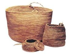 Artesanía de Chile. Cestería Mapuche. Chile handcrafts, Mapuche basketry.