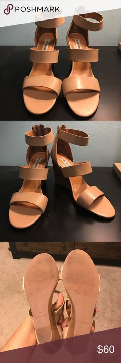 Steve Madden Nude Wedges Nude wedges, like new. No blemishes, just not for me. Bought on a whim. I believe the wedge height is 3 inches. Willing to entertain serious offers Steve Madden Shoes Wedges