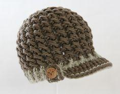coole Mütze gehäkelt für Jungs