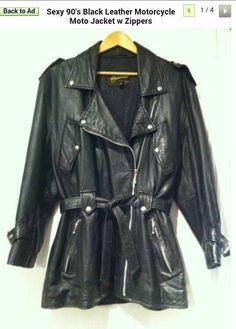 Vintage leather biker jacket. I dig it.