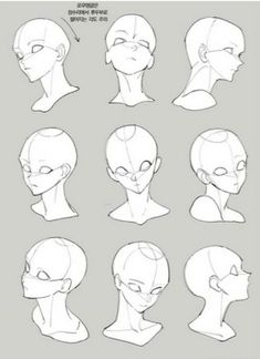Drawing Heads, Drawing Base, Figure Drawing, Anime Drawings Sketches, Anime Sketch, Character Drawing, Character Design, Bd Art, Drawing Body Poses