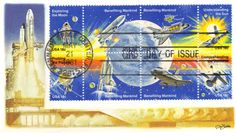Space First Day Cover: Shuttle Stamps First Day Covers, One Day, Booklet, Stamps, 21st, United States, Product Launch, How To Plan, Artwork