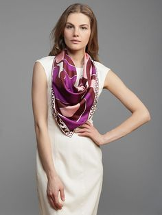 Reminder on how to wear silk scarves from @mattersofstyle