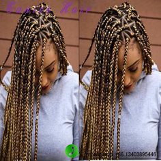 "Synthetic 3X Box Braid Crochect Hair Extensions 18"" 24"""