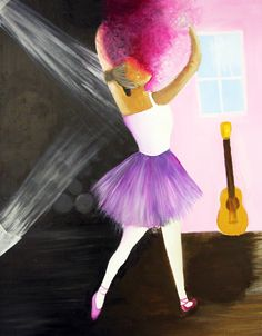 A in the spotlight: by a student from Holy Trinity School in Trinity School, Ballerina Dancing, Holi, Spotlight, Creativity, Ballet, Student, Illustration, Artwork