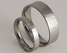 Wedding Bands , Titanium Rings , Promise Rings , Titanium Wedding Ring Set , Aphrodite and Apollo Bands with Comfort Fit Interiors