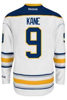 fc7906e5f ... Buffalo Sabres Evander KANE 9 Official Away Reebok Premier Replica NHL  Hockey Jersey (HAND ...