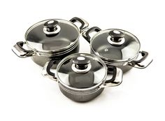 Buy Grey Non-Stick Cookware Set of 3 Woks with Glass Lid (22, 24, 26cm) - Non Stick Frying Pans & Woks and more Homeware, Kitchenware and Cookware products at Popat Stores. #FryPan #NonstickFryPan #Cooking #Cookware #Homeware #Kitchenware