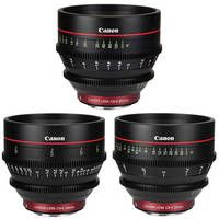 Canon   EF Cinema Prime Lens Kit from B (24, 50 and 85mm)