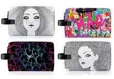 MAC Illustrated Makeup Bags by Anja Kroencke and Street Art artist Indie 184 Mac Makeup, Makeup Bags, Beauty News, Gossip Girl, Fashion Art, Makeup Looks, Street Art, Indie, Make Up