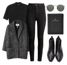 """""""// 09"""" by cidadeurbana ❤ liked on Polyvore featuring Monki, Étoile Isabel Marant, H&M, FOSSIL, Ray-Ban and Forever 21"""