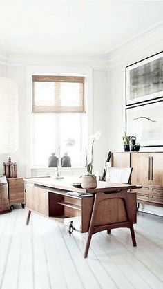 You won't mind getting work done with a home office like one of these. See these 20 inspiring photos for the best decorating and office design ideas for your home office, office furniture, home office ideas Home Office Inspiration, Interior Inspiration, Office Ideas, Office Decor, Office Themes, Office Workspace, Workspace Design, Office Spaces, Workspace Inspiration