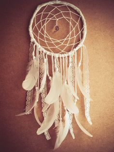 Large Dream Catcher  White Dreams  With Sparkling by bohonest