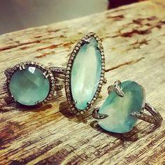 Robindira Undsworth Aquamarine rings starting at $485,OMG Gorgeous!