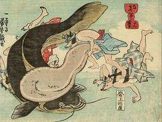los diversos usos del escroto en grabados japoneses del s.xix