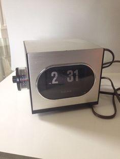 Midcentury Modern Flip Cube Clock Bulova B 5452 Retro Clock with Alarm | eBay