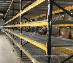 Use pallet racking upgraded with wire mesh shelf panels Pallet Racking, Storage Design, Wire Mesh, Project Management, Shelf, Projects, Home Decor, Homemade Home Decor, Shelves