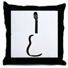 Guitar Pillow sillouette.  : )