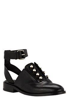 BALENCIAGA - Pierced Ankle-Strap Oxfords