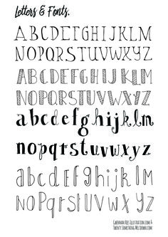 Hand Lettering Fonts Easy | mamiihondenk org
