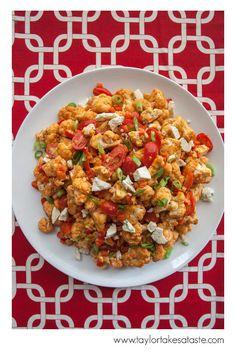 Red Roasted Cauliflower Salad