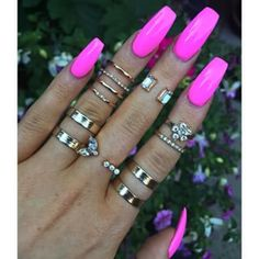 Want some ideas for wedding nail polish designs? This article is a collection of our favorite nail polish designs for your special day. Pink Acrylic Nails, Matte Nails, Glitter Nails, Bright Pink Nails, Bright Summer Nails, Nail Swag, Wedding Nail Polish, Wedding Nails, Work Nails