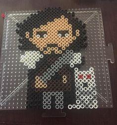 John Snow - Gane of Thrones perler beads by tattooedharlot07