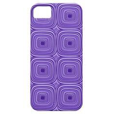 Retro Abstract Purple Geometric Squares Pattern Apple iPhone SE + 5/5S case