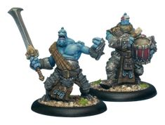 Fennblade Officer and Drummer #HORDES #Trollbloods #PrivateerPress #unit #miniatures #wargames