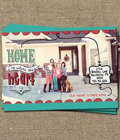 1000 images about printable we39ve moved cards on for Custom new address cards