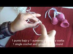 Tutorial Campanitas de ganchillo - Crochet jingle bells tutorial - YouTube