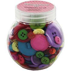 Coloured Buttons Jar - 140g