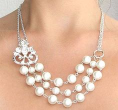 49564da51ec5 Bridal+Jewelry+Wedding+Necklace+Pearl+Wedding+Jewelry+by+zafirenia