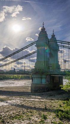 Hammersmith Bridge Fulham, Tower Bridge, Bridges, Childhood Memories, Statue Of Liberty, Buildings, London, World, Places