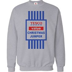 CHRISTMAS JUMPER SWEATER MENS FUNNY TOPS TESCO VALUE SWEAT SHIRT XMAS GIFT 2015 UNISEX TOP Medium Grey
