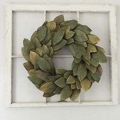 Today, I went to the in historic Hilton Village Newport News, VA. You guys, if any of you are in the area check the shop out they have the cutest stuff! I left with this window pane & now I finally got to hang up my wreath 😍 Happy Monday! Farmhouse Chic, Vintage Farmhouse, Farmhouse Front, Home Projects, Craft Projects, Magnolia Wreath, Magnolia Leaves, Porch Decorating, Decorating Ideas