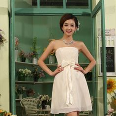 Discount China china wholesale Elegant Simple Sweetheart Front Bow Tie Ball Bridesmaid Performance Dress [30797] - US$44.99 : DealsChic