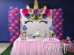 For any girls magical day! Unicorn Themed Birthday Party, 10th Birthday Parties, Unicorn Party, Birthday Party Decorations, Pony Party, First Birthdays, Party Ideas, Unicorns, Shower